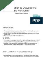 Introduction to Occupational Bio-Mechanics