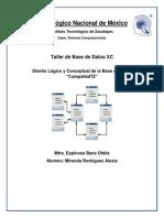 Diseño Lógico y Conceptual BD Compañia ITZ