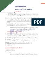 PH court jurisdictions