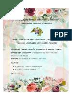 Sesión Multigrado i.e. Jesus Maria-comunicación