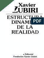 Zubiri Xavier - Estructura Dinamica De La Realidad.pdf