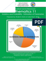 Contextualized Learner Resource in Mathematics 11 Statistics and Probability