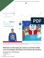 Walmart Se Disculpa Por Poner a La Venta Suéter Con Una Imagen de Santa y Tres Líneas de Cocaína _ SinEmbargo MX