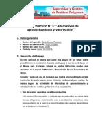 """Trabajo Práctico N° 3 """"Alternativas de aprovechamiento y valorización"""""""