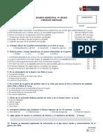 Evaluación de Ciencias Sociales - 4º Grado
