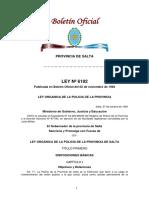 LEY ORGANIZA DE LA POLICIA DE SALTA Nº 6192.pdf