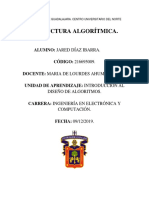 Estructura Algorítmica (Jared Díaz Ibarra)