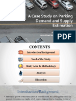 A Case Study on Parking Demand and Supply