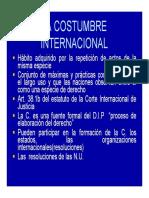 Derecho Internacional La Costumbre Internacional