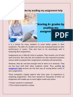 Scoring A+ grades by availing my assignment help