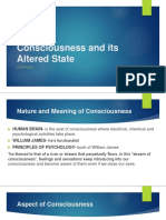 Consciousness and Its Altered State