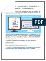 Best Java Learning at in Ahmedabad