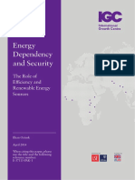 Energy Dependency and Energy Security - Role of NRE
