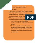 Asas -Asas Hukum Pajak