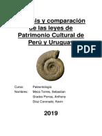 Análisis y Comparación de Las Leyes de Patrimonio Cultural de Perú y Uruguay