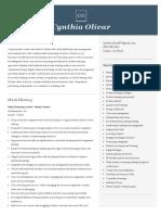 cynthia olivar resume