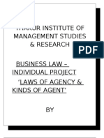 Laws of Agency & Kinds of Agents (Shruti)