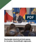 Declarație istorică privind pacea în Ucraina. Semnificații regionale. .doc
