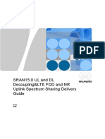 SRAN15.0 NR UL and DL Decoupling&LTE FDD and NR Uplink Spectrum Sharing Delivery Guide v0.1.doc