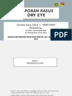 Ppt Laporan Kasus Dry Eye
