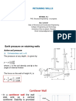 Design of Retaining Wall-Part 1