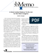 A Short U.N. To-Do List