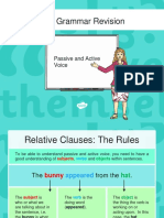 Year 6 Grammer Revision Guide and Quick Quiz Passive and Active Voice