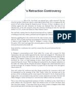 Jose Rizal's Retraction Controversy Essay.docx