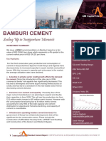 Bamburi Cement- Scaling Up in Inopportune Moments