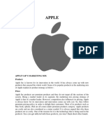 Marketing Mix - Apple