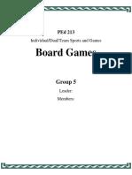 PEd 213 Handouts