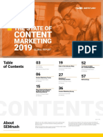 State of Content Marketing Report 2019