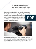 Lorenzo Botero Start Enjoying Photography With These Great Tips