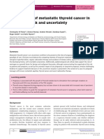 [20520573 - Endocrinology, Diabetes & Metabolism Case Reports] Management of metastatic thyroid cancer in pregnancy_ risk and uncertainty