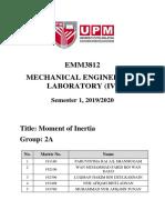 Lab 7- Moment of Inertia