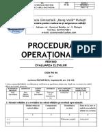 Procedura Evaluarea Elevilor