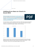 Adding Error Bars to Charts in Excel 2013 – Nathan Brixius