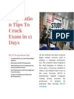IELTS Preparation Tips to Crack Exam in 15 Days