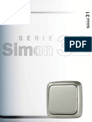 Simon 31254-30 Conmutador Cruce Luminoso