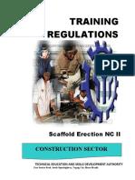 Training Regulations - Scaffold Erection Nc II (Tesda)