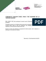 Comunicat Conjunt d'ERC, PSOE i PSC