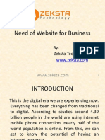 Need of Website for Business