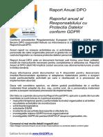 Raportul Anual Al Responsabilului Protectia Datelor Dpo
