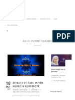 10 Effects of Rahu in 9th House in Horoscope _ Rahu in Ninth House