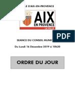 CM 16 Novembre 2019 Ordre Du Jour