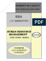 SLM-III Sem BBA Human Resource Management