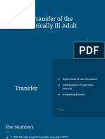 Transfer of Critically Ill Adult
