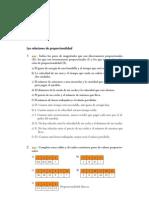Matematicas Matematicas Resueltos (Soluciones) Proporcionalidad y Porcentaje 1º ESO