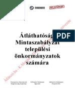 Átlátszo.hu K-Monitor Transparency-International-Magyarország Önkormányzati Átláthatosagi Mintarendelet