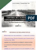 Pavimentos de Concreto-control de Calidad